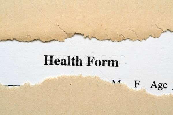 Health form Stock photo © alexskopje