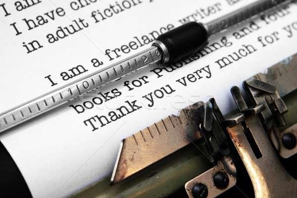 Mektup ofis kitap çalışmak kalem klavye Stok fotoğraf © alexskopje