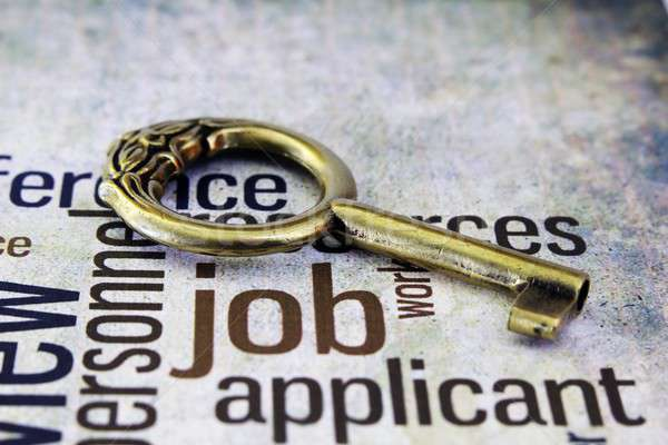 Altın anahtar iş metin ofis başarı Stok fotoğraf © alexskopje