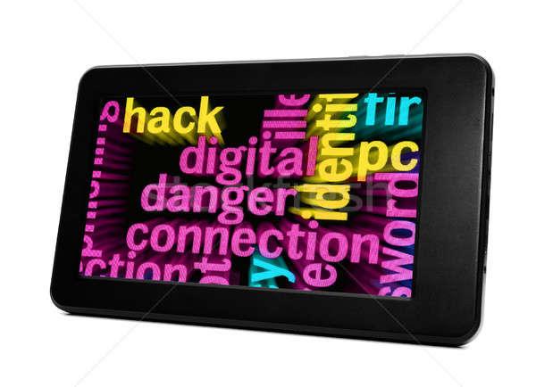 Dijital tehlike bağlantı iş bilgisayar Internet Stok fotoğraf © alexskopje