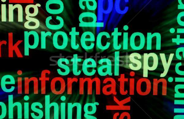 защиту информации технологий клавиатура фон безопасности Сток-фото © alexskopje