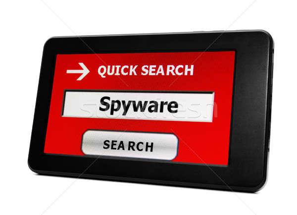 Spyware компьютер сеть блокировка информации данные Сток-фото © alexskopje