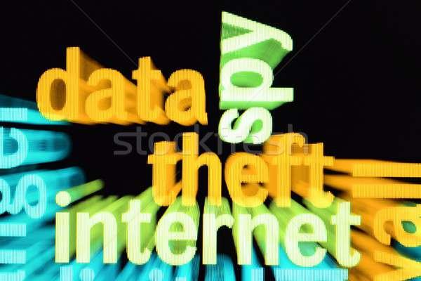 Adat lopás internet számítógép technológia háló Stock fotó © alexskopje