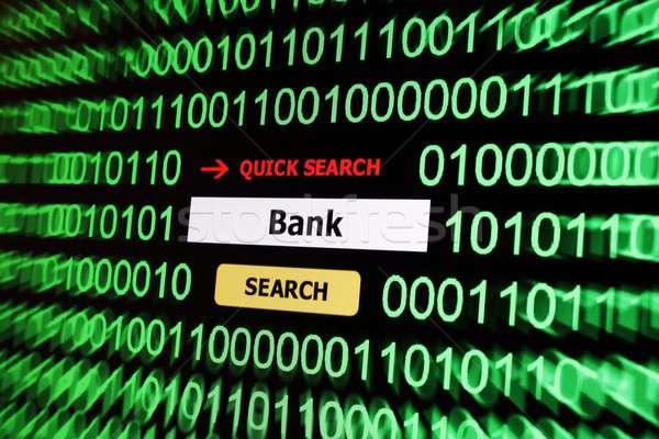 Pesquisar banco negócio computador teia bar Foto stock © alexskopje