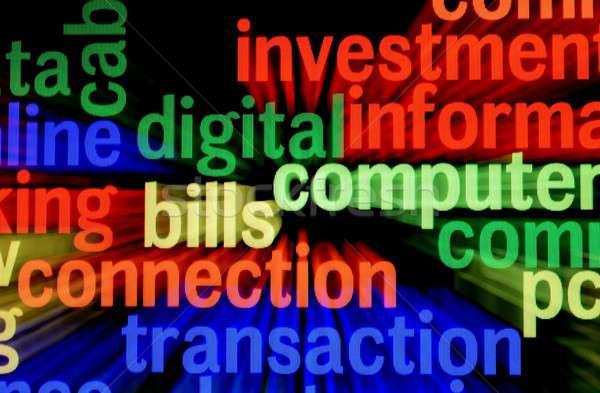 Rechnungen Verbindung Transaktion Business Technologie Telefon Stock foto © alexskopje