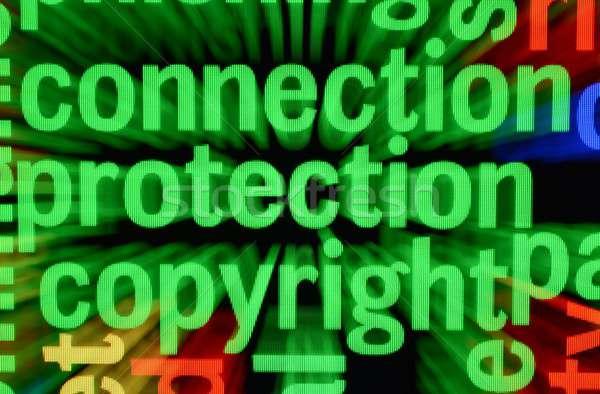 связи защиту авторское право технологий клавиатура фон Сток-фото © alexskopje