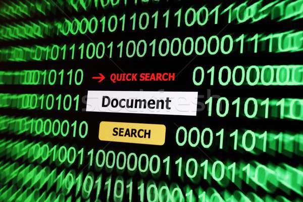 поиск документа Новости чтение печать службе Сток-фото © alexskopje
