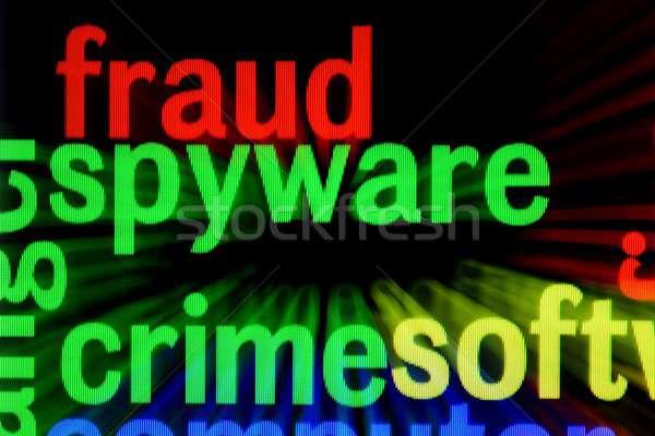 мошенничество spyware преступление компьютер ноутбука веб Сток-фото © alexskopje