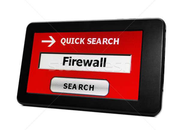 Tűzfal számítógép munka technológia hálózat utazás Stock fotó © alexskopje