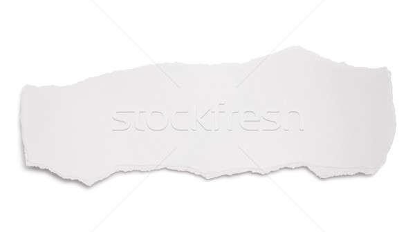 Peça branco papel espaço limpar nota Foto stock © Alexstar