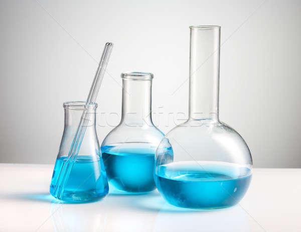 Laboratórium üvegáru orvosi labor vegyi szerszám Stock fotó © Alexstar