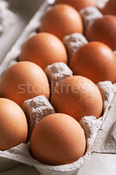 Cartão ovos ovo caixa grupo proteção Foto stock © Alexstar
