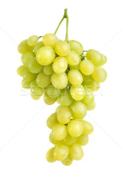 Foto stock: Uvas · verdes · monte · isolado · branco · vinho · fundo