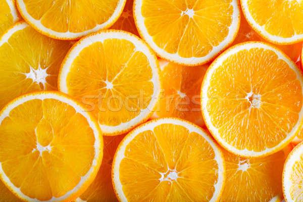 Narancs étel háttér fehér dzsúz édes Stock fotó © Alexstar