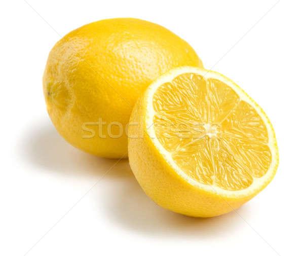 Citromok fehér citrom főzés desszert citromsárga Stock fotó © Alexstar