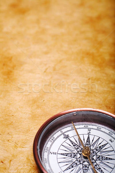 Velho bússola terra viajar retro história Foto stock © Alexstar