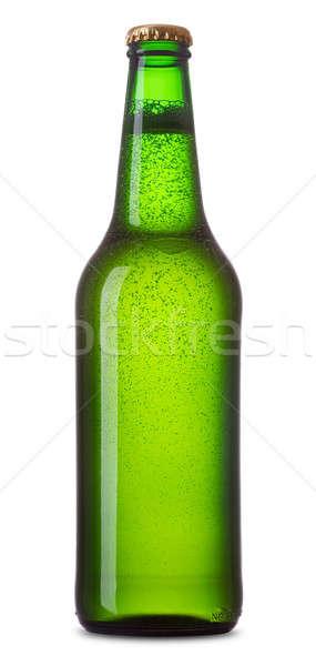 Sörösüveg zöld üveg sör fehér üveg Stock fotó © Alexstar