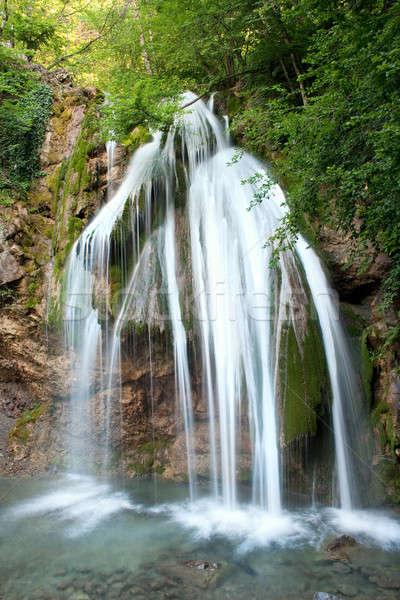 Cachoeira primavera montanha verão rocha rio Foto stock © Alexstar