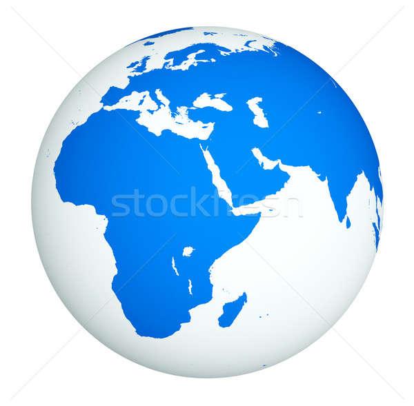 Branco globo mar terra oceano ciência Foto stock © Alexstar