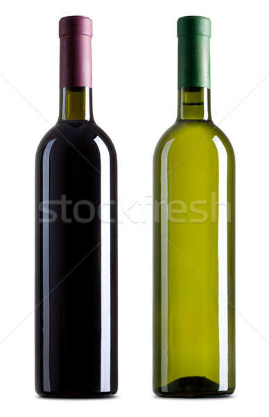 Red and white wine bottles Stock photo © Alexstar