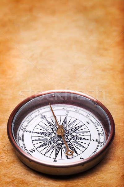 Klasszikus iránytű Föld utazás retro történelem Stock fotó © Alexstar