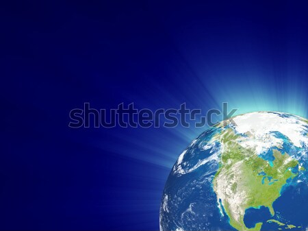 Terra mar oceano azul ciência terra Foto stock © Alexstar