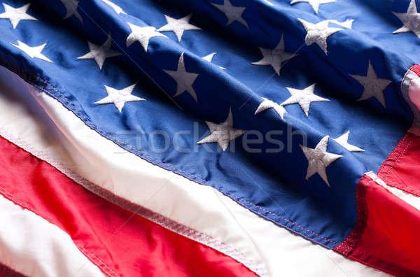 Amerikai zászló csillagok zászló Amerika USA kormány Stock fotó © Alexstar
