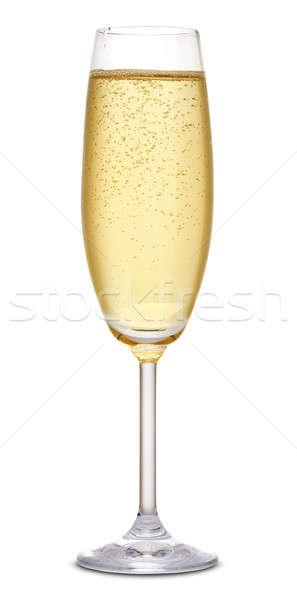 Pezsgő üveg fehér buli ital folyadék Stock fotó © Alexstar