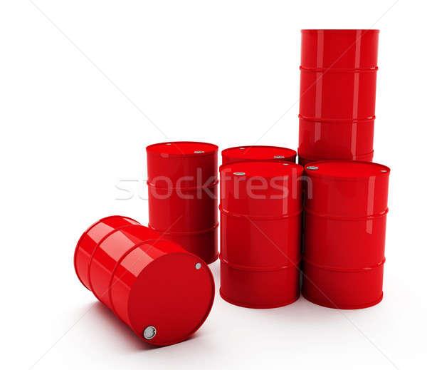 Bateria vermelho mercado tambor recipiente economia Foto stock © Alexstar