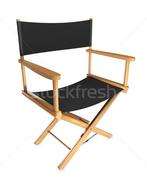 Stock photo: Director's chair