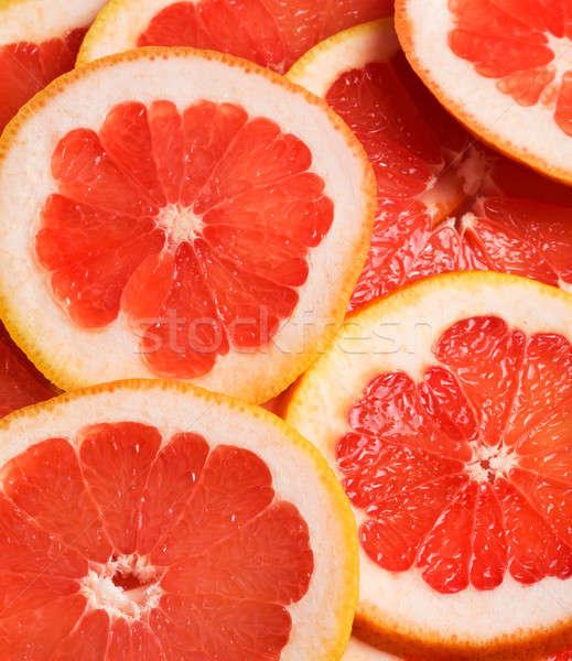Grapefruit étel természet gyümölcs háttér piros Stock fotó © Alexstar