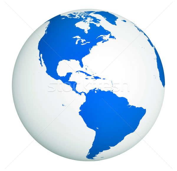 Branco globo terra oceano azul ciência Foto stock © Alexstar