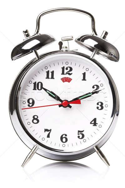 Fekete alszik óra fehér tárgy szám Stock fotó © Alexstar