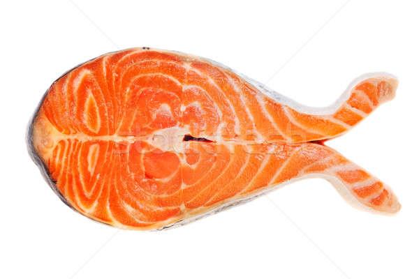 Peixe salmão bife branco laranja jantar Foto stock © Alexstar