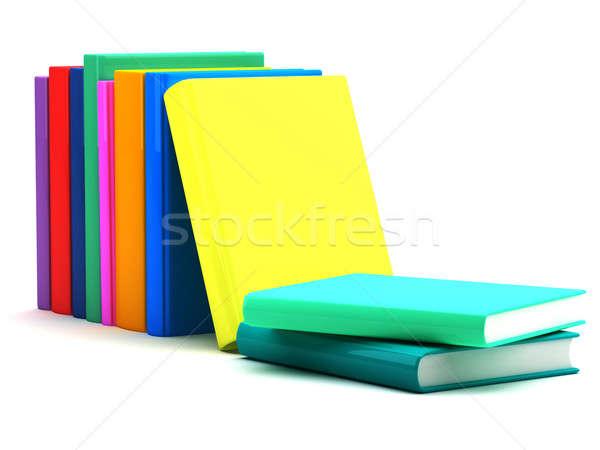Könyvek iskola diákok csoport tanulás érettségi Stock fotó © Alexstar