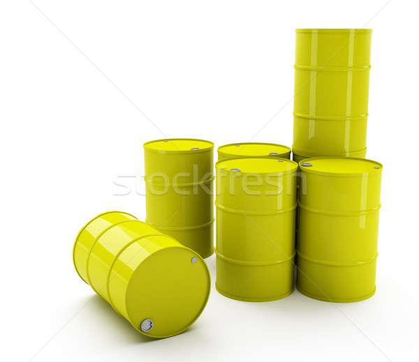 Olaj dobok fekete dob tank hordó Stock fotó © Alexstar