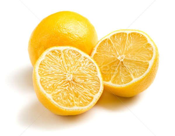 Limões branco cozinhar sobremesa fresco saudável Foto stock © Alexstar