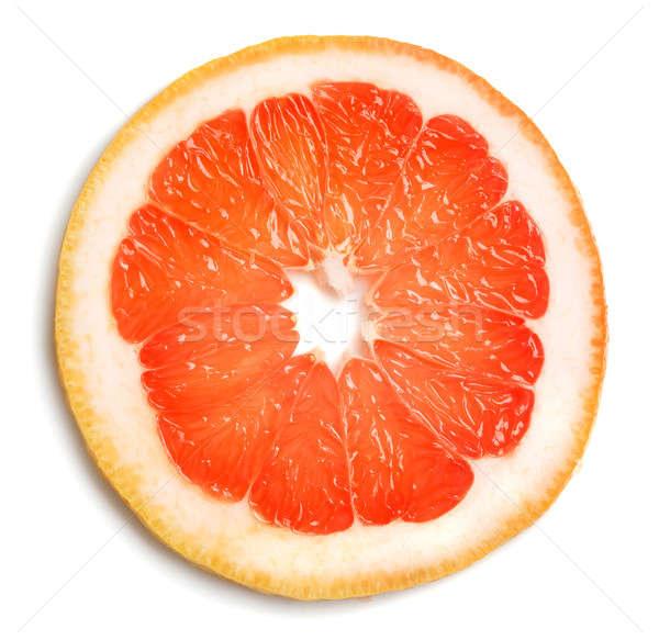Grapefruit szelet fehér étel gyümölcs piros Stock fotó © Alexstar
