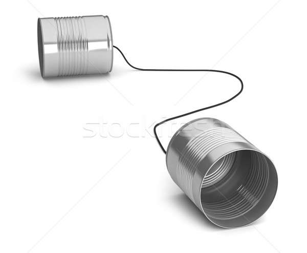 Two tin cans Stock photo © Alexstar