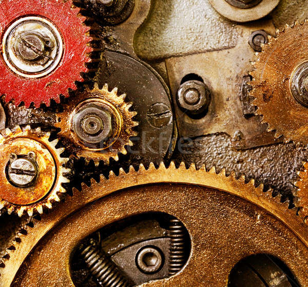 Stock photo: old gearing