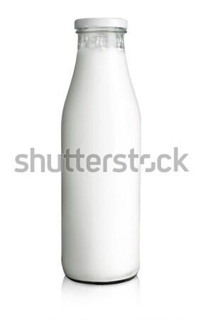 üveg tej étel üveg reggeli folyadék Stock fotó © Alexstar