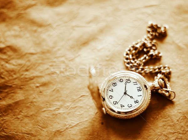 Relógio de bolso papel cara assinar cadeia ver Foto stock © Alexstar