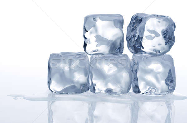 Gelo branco água luz vidro espaço Foto stock © Alexstar
