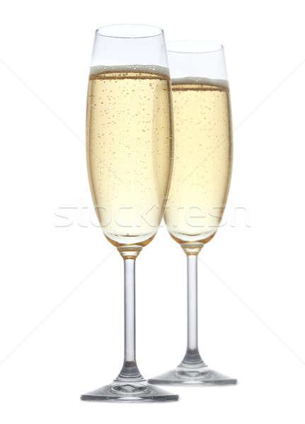 Champanhe dois óculos festa vidro beber Foto stock © Alexstar