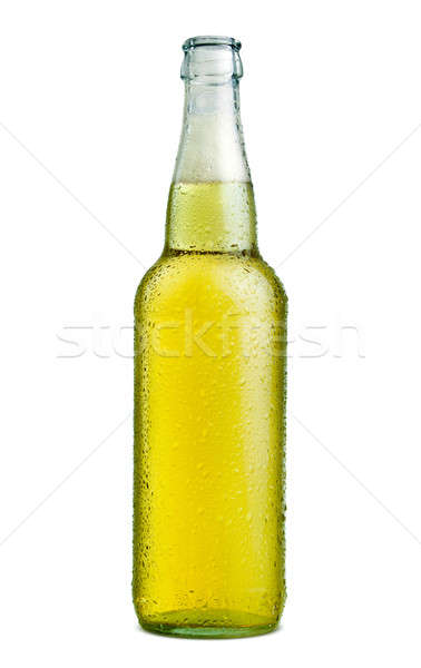 Garrafa cerveja branco luz bar Foto stock © Alexstar