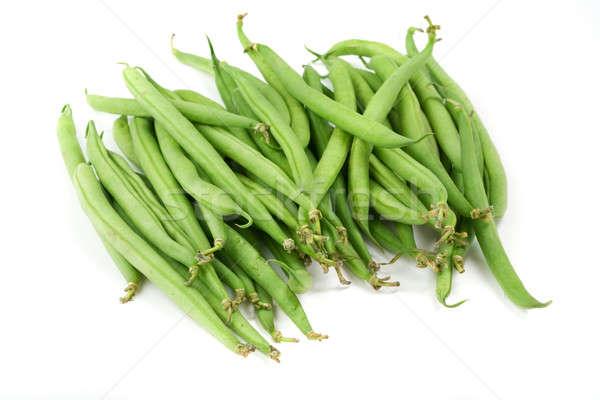 Bos groene bonen witte voedsel natuur eten Stockfoto © Alexstar