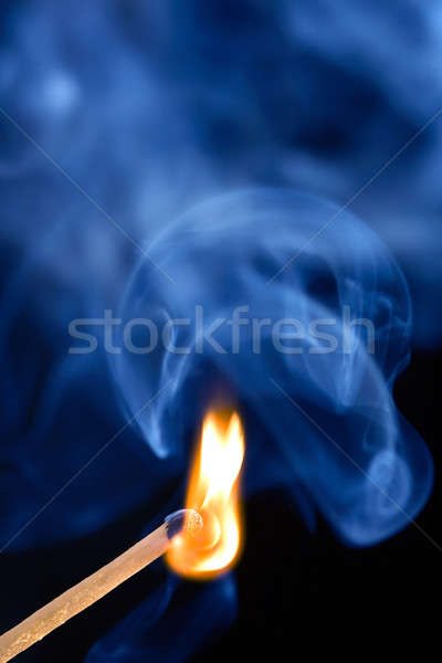 égő gyufa tűz fa fény füst Stock fotó © Alexstar