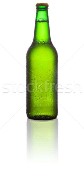 Garrafa cerveja branco vidro fundo Foto stock © Alexstar
