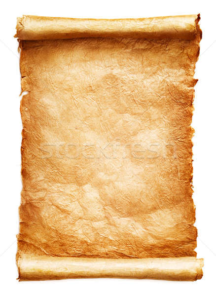 Stockfoto: Antieke · papier · scroll · witte · achtergrond · document