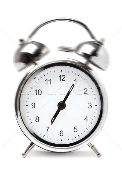 Despertador relógio branco dormir ver objeto Foto stock © Alexstar